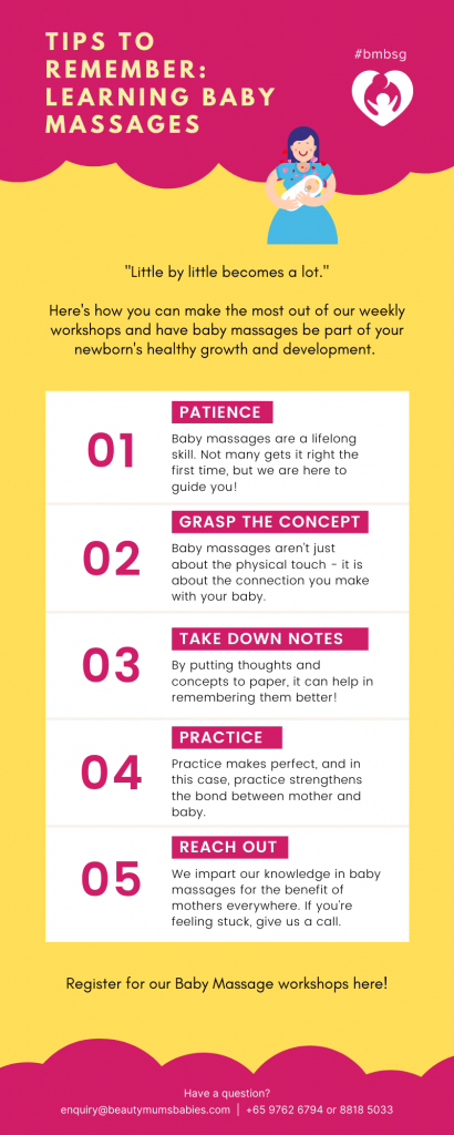 [INFOGRAPHIC] Tips to Learning Baby Massages