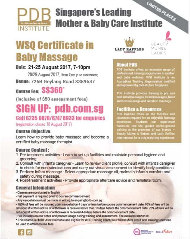 WSQ Certificate in Baby Massage (Oct 2017) | Beauty Mums & Babies
